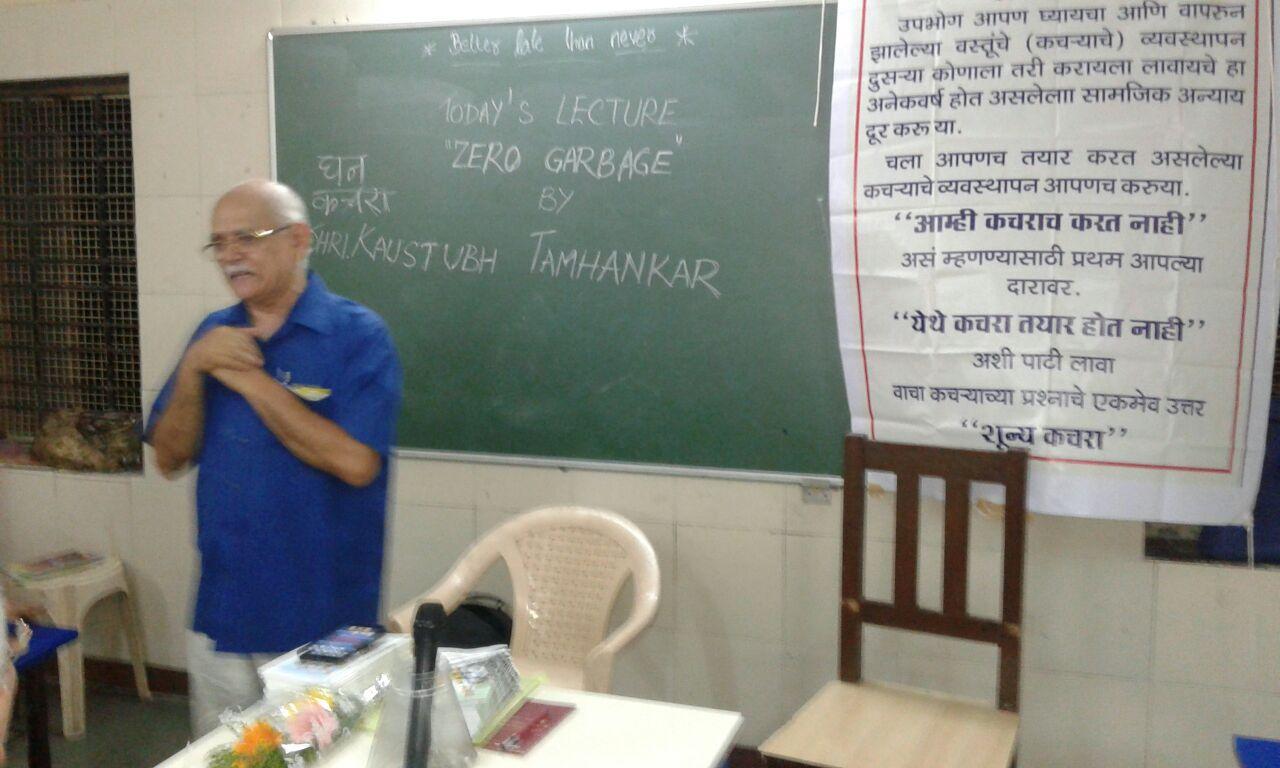 Kaustubh Tamhankar - urging the audiance to follow the concept
